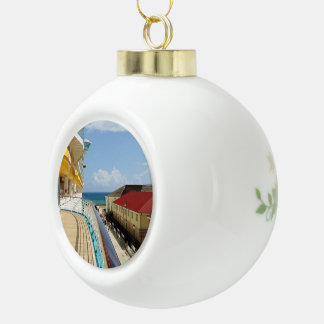 Falmouth Jamaica Ceramic Ball Ornament