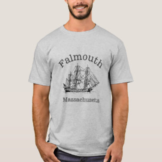 Falmouth Massachusetts Tall Ship Boat T-Shirt
