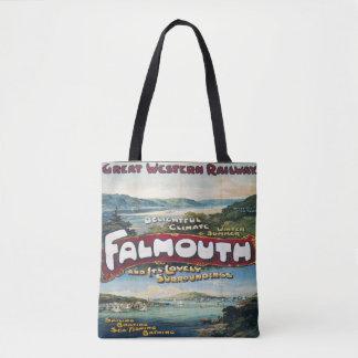 Falmouth Vacation vintage Image tote bag travel