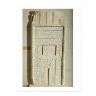 False door of Sheshi, c.2300-2200 BC (painted lime Postcard
