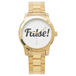 False! Gold! Watch! Wrist Watch