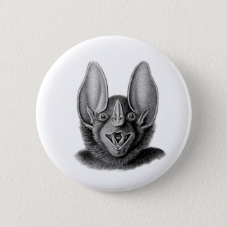False Vampire Bat 2 Inch Round Button