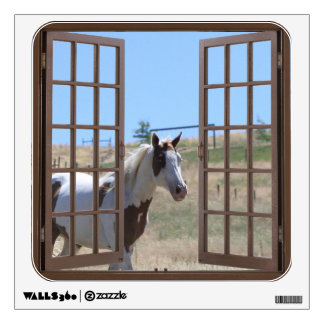 False Window Wall Decal- Paint Horse Wall Sticker