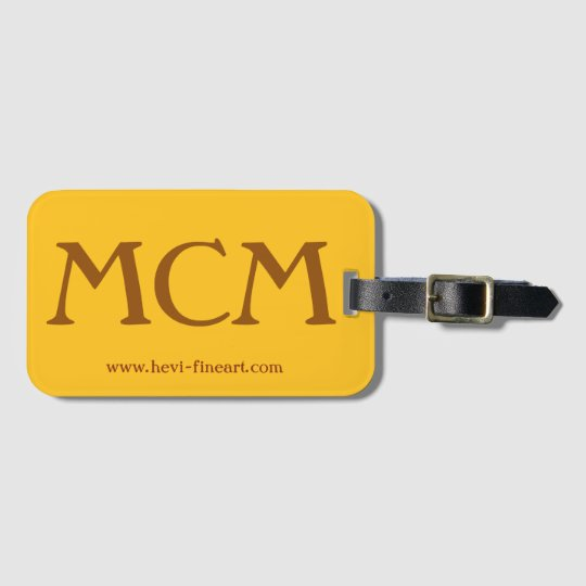 fambly luggage tags MCM