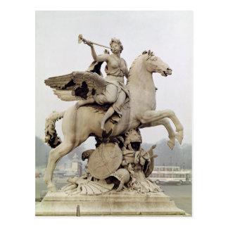 Fame Riding Pegasus  1699-1702 Postcard