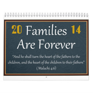 Families are Forever Calendar