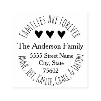 Families Are Forever Family Name Address Self-inking Stamp