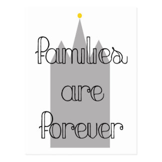 families are forever mormon lds temple postcard