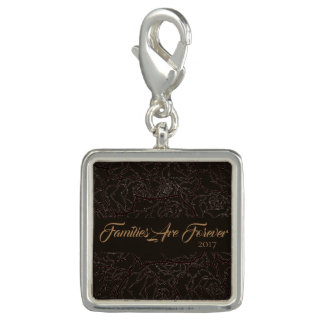 Families Are Forever Silver Plate Charm