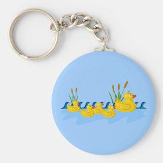 Famille de canard porte-clés