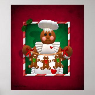 Famille de pain d'épice : Fille de boulangerie Affiche