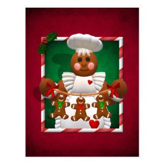 Famille de pain d'épice : Fille de boulangerie Carte Postale