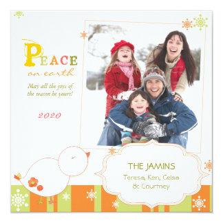 Famille douce PhotoCard plat de salutations de Carton D'invitation 13,33 Cm