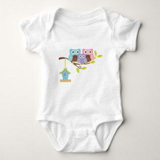 Famille mignonne de hibou tee-shirts