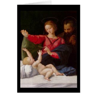 Famille sainte La Madone de Lorette Carte De Vœux