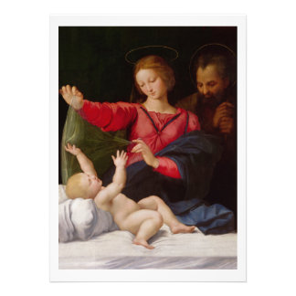 Famille sainte La Madone de Lorette Carton D'invitation 13,97 Cm X 19,05 Cm