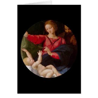 Famille sainte Madonna de Loreto Carte De Vœux