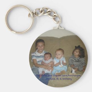 family 011, You're the best Papaw! Love,MariMor... Basic Round Button Keychain