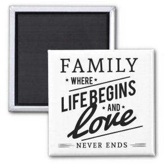 Family 2 Inch Square Magnet