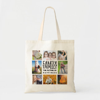 Family 8 Photo Collage Template Plus Add Name V1 Tote Bag