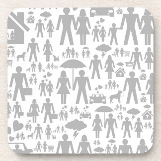 Family a background drink coaster