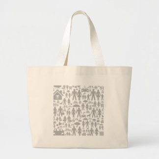 Family a background large tote bag