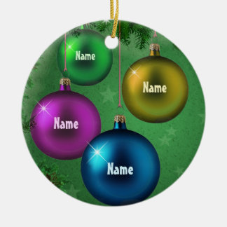 Family Afar (customizable) Ceramic Ornament