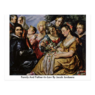 Family And Father-In-Law By Jacob Jordaens Postcard