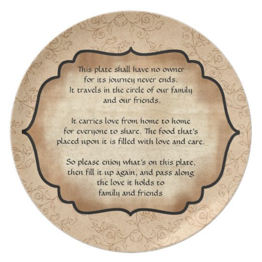 Family and Friends Travelling Plate