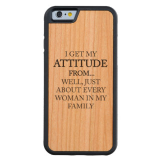 Family Attitude Carved Cherry iPhone 6 Bumper Case