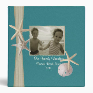 Family Beach Vacation with Starfish and Photos Vinyl Binders
