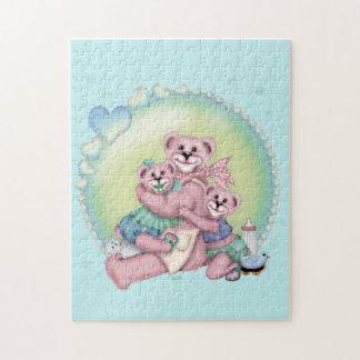 FAMILY BEAR LOVE 1 CARTOON PUZZLE 11 X 14