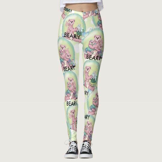 FAMILY BEAR LOVE CARTOON LEGGINGS 2