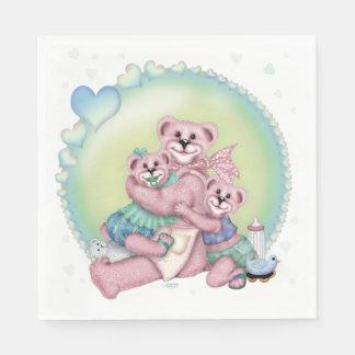 FAMILY BEAR LOVE CARTOON NAPKINS DISPOSABLE NAPKIN