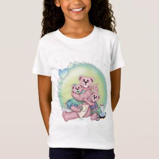 FAMILY BEAR LOVE CUTE CARTOON Babydoll T-Shirt W