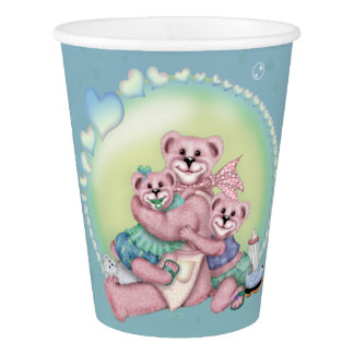 FAMILY BEAR LOVE  PAPER CUP