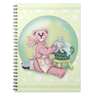 FAMILY BEAR LOVE Photo Notebook (80 Pages B&W)