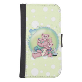 FAMILY BEAR LOVE Samsung Galaxy S4 Wallet Case