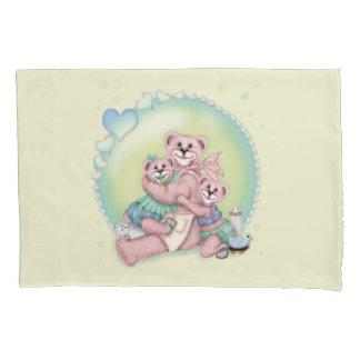 FAMILY BEAR LOVE SINGLE Pillowcase