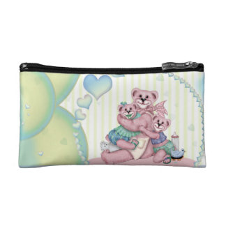 FAMILY BEAR LOVE Small Cosmetic Bag