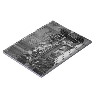 Family Billiards 1891 Spiral Notebooks