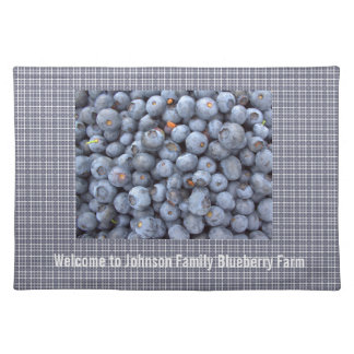 Family blueberry farm or restaurant placemats