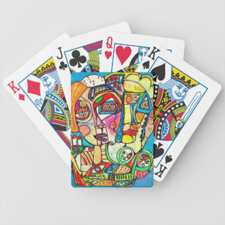 family by Sandra Silberzweig Bicycle Playing Cards