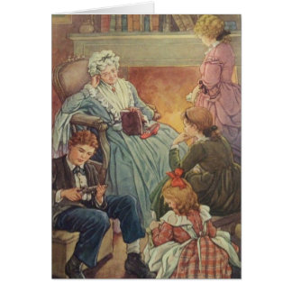Family by the Fireside, Card