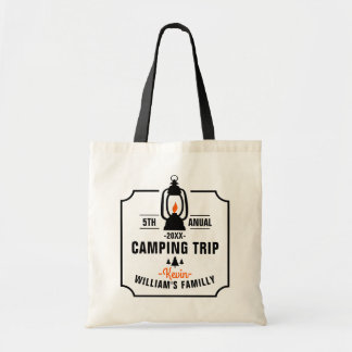 Family Camping Trip Template Tote Bag