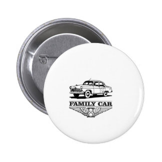 family car drive 2 inch round button