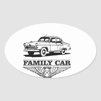family car drive oval sticker