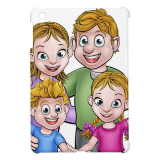 Family Cartoon Characters Cover For The iPad Mini