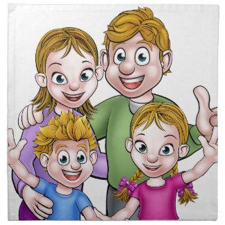 Family Cartoon Characters Napkin