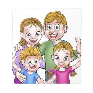 Family Cartoon Characters Notepad
